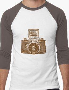 Giant East German Camera - Brown Men's Baseball ¾ T-Shirt