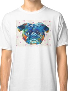 Pug Love Dog Art by Sharon Cummings Classic T-Shirt