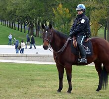 Park Police on Duty at the National Mall, Washington D.C. by Bine