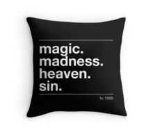 magic. madness Throw Pillow