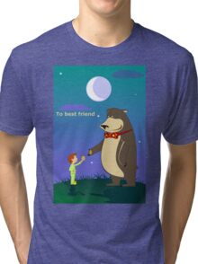 to best friend funny Tri-blend T-Shirt