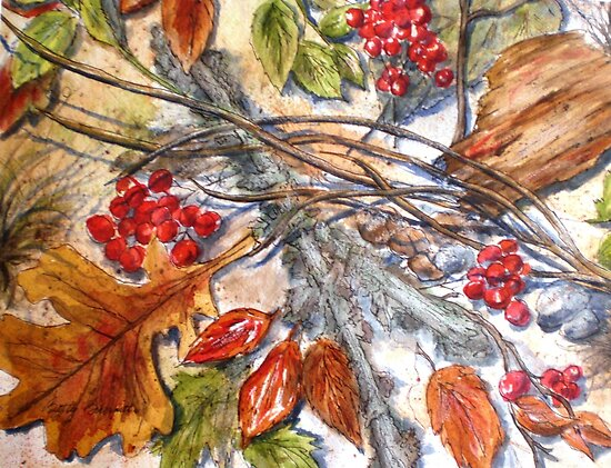Nature's Fall Collage by Betty Burnitt