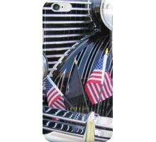 Patriotic 1940 Cadillac American Flag - Brightwork  iPhone Case/Skin
