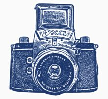 Giant East German Camera - Navy Blue by Artberry