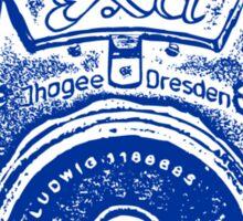 Giant East German Camera - Navy Blue Sticker