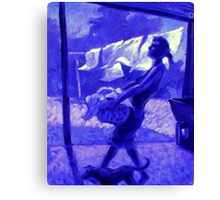 Violet's Wash Day Canvas Print
