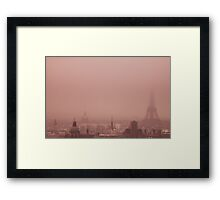 A foggy day Framed Print