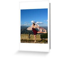 flowing as one with nature  Greeting Card
