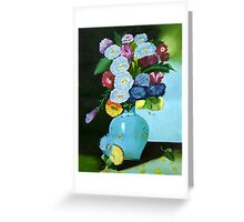 Floral Galaxy- Original Oil Painting Greeting Card