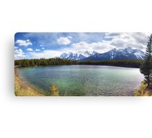 Herbert Lake panorama Canvas Print