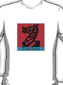Zebra Animal Alphabet T-Shirt