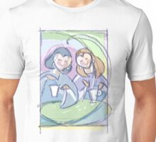 """Best Friends""- girls at the cafe Unisex T-Shirt"