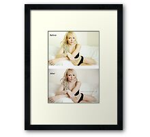 Before and After Framed Print