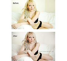 Before and After Photographic Print