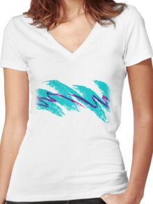 Jazz Solo Paper Cups Women's Fitted V-Neck T-Shirt