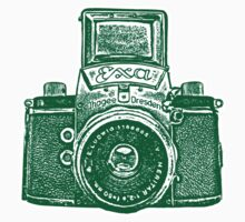Giant East German Camera - Forest Green by Artberry