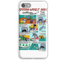 """Sperm-Whale Man """"Floody Looters"""" iPhone Case/Skin"""