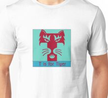 Tiger Animal Alphabet Unisex T-Shirt