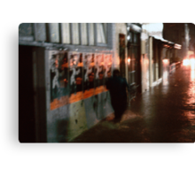 it's raining it's pouring... Canvas Print