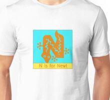 Newt Animal Alphabet Unisex T-Shirt