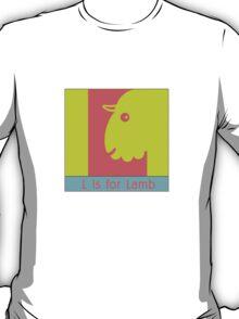 Lamb Animal Alphabet T-Shirt