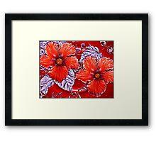 Flowers red hot Framed Print