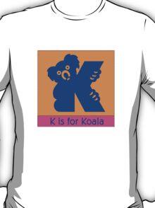 Koala Bear Animal Alphabet T-Shirt
