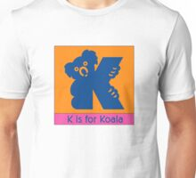 Koala Bear Animal Alphabet Unisex T-Shirt