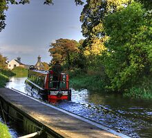 Narrow Boat at Strawberry Bank by Tom Gomez