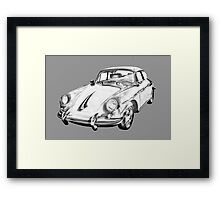 1962  Porsche 356 E Illustration Framed Print