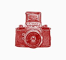 Giant East German Camera - Ruby Red Unisex T-Shirt