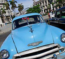 Old Blue Chevy, Havana, Cuba by buttonpresser