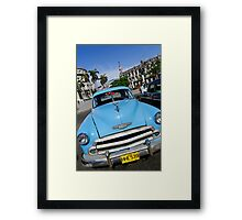 Old Blue Chevy, Havana, Cuba Framed Print