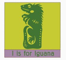 Iguana Animal Alphabet by Zehda
