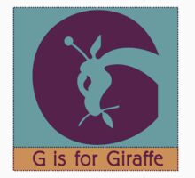 Giraffe Animal Alphabet T-Shirt