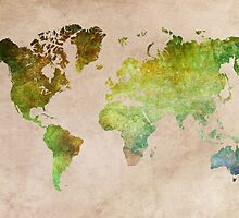 Green World Map ecology by JBJart