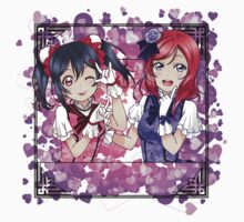 Nico & Maki (KiRa-KiRa Sensation camo edit) One Piece - Long Sleeve