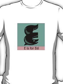 Eel Animal Alphabet T-Shirt