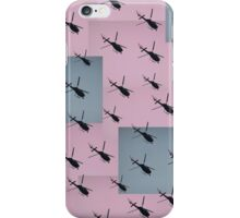 Helifly pink grey iPhone Case/Skin