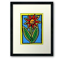Smug Flower Framed Print