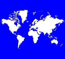 World Splatter Map - wtrue blue by Mark McKinney