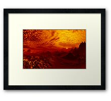 Just Another Bloody Sunset Framed Print