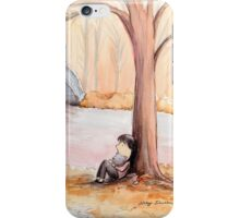 Reflection by the river iPhone Case/Skin