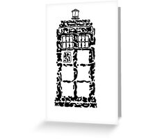 Abstract Dr. Who TARDIS Greeting Card