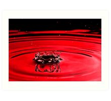 red crown Art Print
