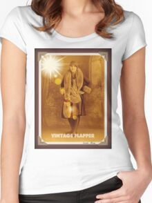 Vintage Flapper 3 Women's Fitted Scoop T-Shirt