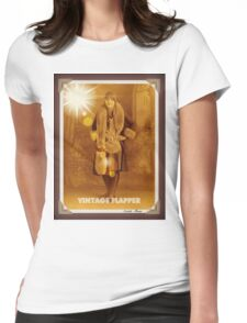 Vintage Flapper 3 Womens Fitted T-Shirt