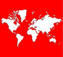World Splatter Map - wtrue red by Mark McKinney