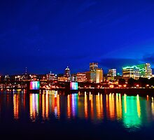 Portland Oregon at night by Carl LaCasse