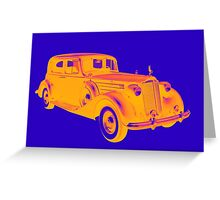 Colorful Packard Luxury Car Pop Art Greeting Card